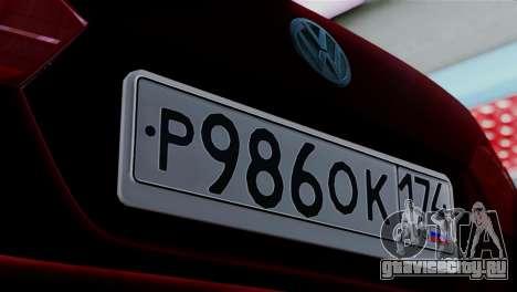 Volkswagen Jetta Stance для GTA San Andreas вид сзади слева