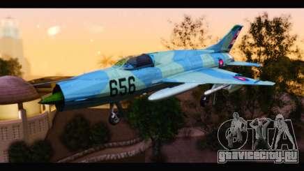 MIG-21MF Cuban Revolutionary Air Force для GTA San Andreas