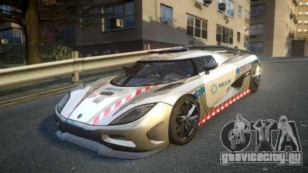 Koenigsegg Agera Polish Highway Patrol Police для GTA 4