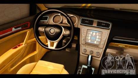 Volkswagen Golf Mk7 2014 для GTA San Andreas вид справа