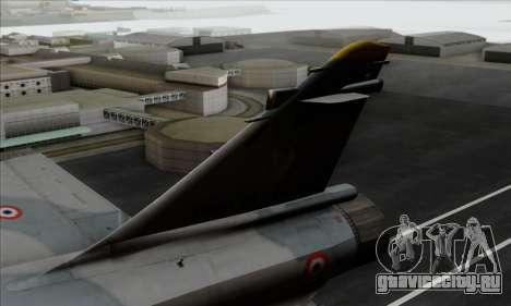 Dassault Mirage 2000-5 ACAH для GTA San Andreas вид сзади слева