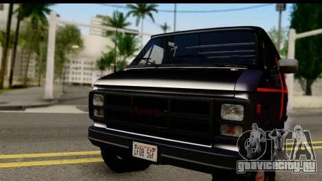 GMC Vandura G-1500 Payday 2 для GTA San Andreas вид сзади слева