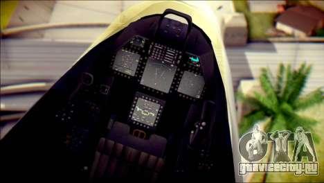 F-22 Raptor Razgriz для GTA San Andreas вид справа