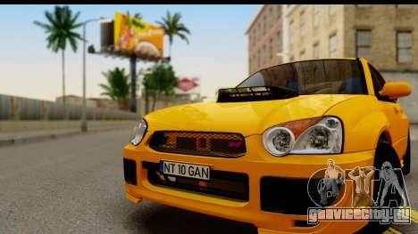Subaru Impreza WRX STI 2005 Romanian Edition для GTA San Andreas вид сзади слева