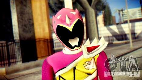 Power Rangers Kyoryu Pink Skin для GTA San Andreas третий скриншот