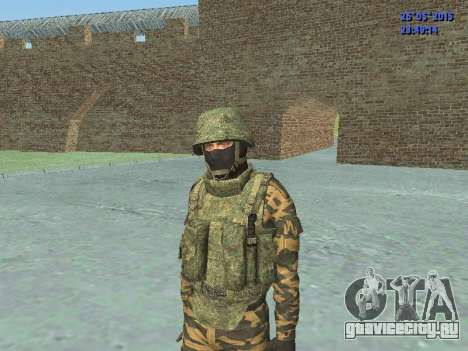 Боец в горной флоре для GTA San Andreas четвёртый скриншот