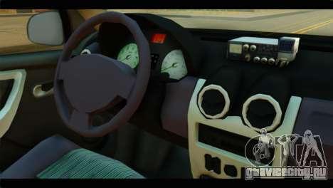 Dacia Logan Iranian Taxi для GTA San Andreas вид справа