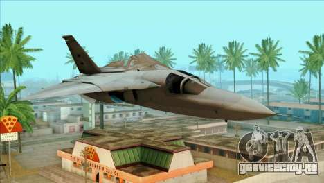 General Dynamics F-111 Aardvark для GTA San Andreas вид сзади