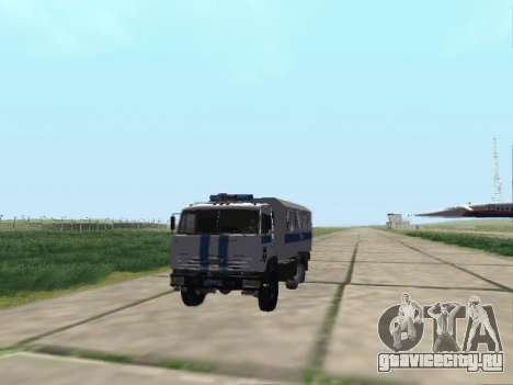 КамАЗ-43114 ОМОН для GTA San Andreas вид сзади слева