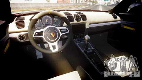 Porsche Cayman GT4 2015 для GTA 4 вид сзади