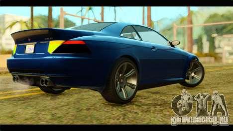 GTA 5 Ubermacht Zion XS для GTA San Andreas вид слева