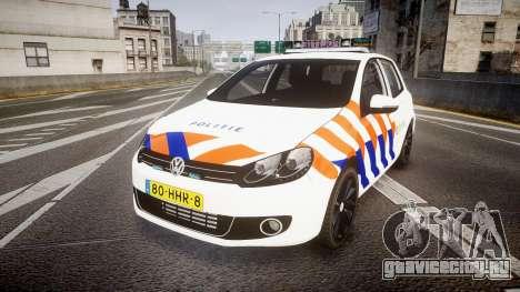Volkswagen Golf Mk6 Dutch Police [ELS] для GTA 4