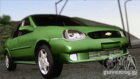 Chevrolet Corsa Classic 2009 для GTA San Andreas вид сзади