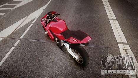 Honda CBR600RR для GTA 4 вид сзади слева