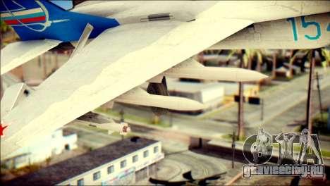 MIG-29 Fulcrum Reskin для GTA San Andreas вид справа