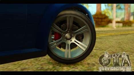 GTA 5 Ubermacht Zion XS для GTA San Andreas вид сзади слева