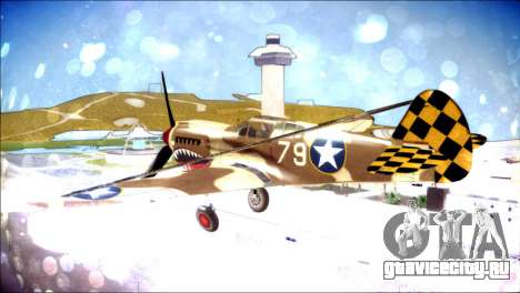 P-40E 325th Fighter Group для GTA San Andreas вид слева