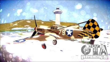 P-40E 325th Fighter Group для GTA San Andreas вид слева