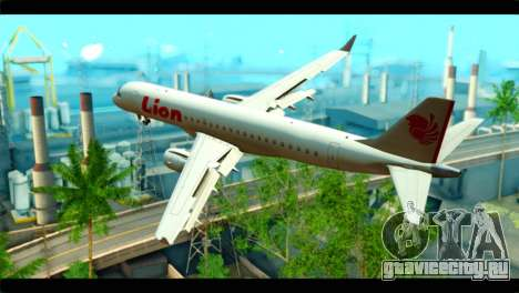 Embraer 190 Lion Air для GTA San Andreas вид слева