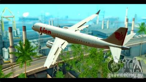 Embraer 190 Lion Air для GTA San Andreas вид слева