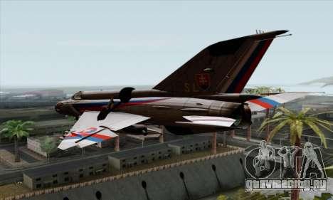 MIG-21MF Slovak Air Force SLP для GTA San Andreas вид слева