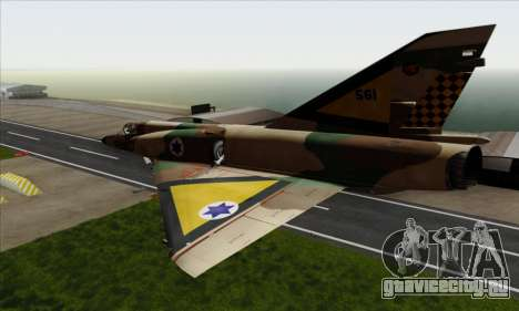 Dassault Mirage III AFI для GTA San Andreas вид слева