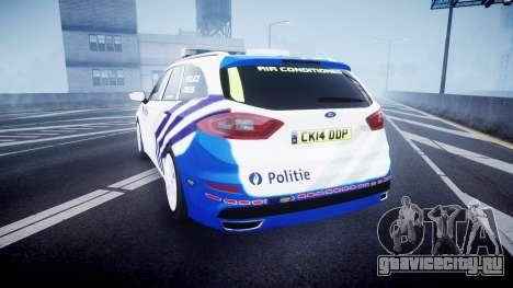 Ford Fusion Estate Belgian Police [ELS] Dog Unit для GTA 4 вид сзади слева