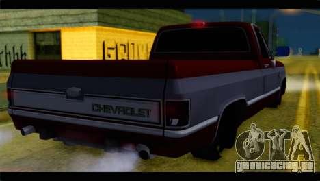 Chevrolet C10 Low для GTA San Andreas вид слева
