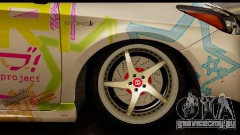 Toyota Prius Hybrid Eri Ayase Love Live Itasha для GTA San Andreas вид сзади