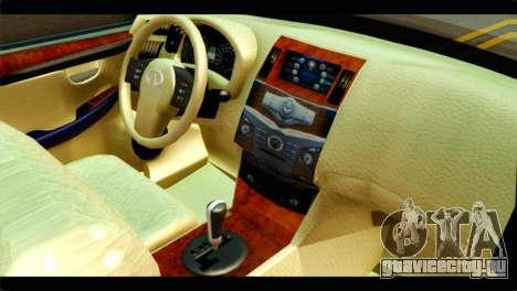 Infiniti QX56 для GTA San Andreas вид справа