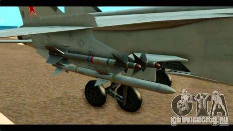MIG-31 Soviet для GTA San Andreas вид справа