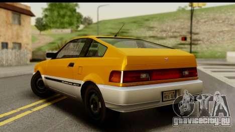 GTA 4 Blista Compact для GTA San Andreas вид слева