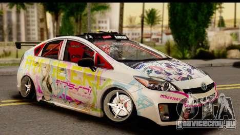 Toyota Prius Hybrid Eri Ayase Love Live Itasha для GTA San Andreas