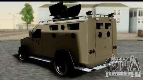 Camion Blindado для GTA San Andreas вид слева