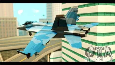 FA-18 Super Hornet Aggressor Squadron для GTA San Andreas вид слева