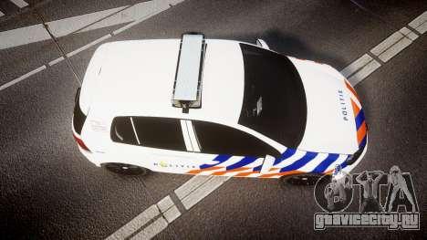 Volkswagen Golf Mk6 Dutch Police [ELS] для GTA 4 вид справа