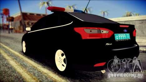 Ford Focus ДПС для GTA San Andreas вид слева