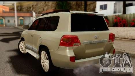 Toyota Land Cruiser 200 2013 для GTA San Andreas вид слева