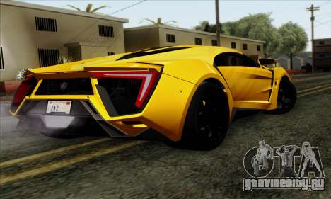 Lykan Hypersport 2014 Livery Pack 2 для GTA San Andreas вид слева