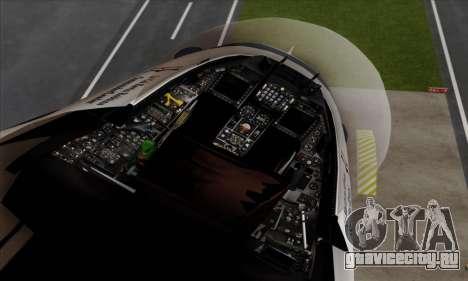 F-16C USAF Thunderbirds для GTA San Andreas вид справа