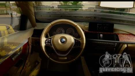 BMW 335i Coupe 2012 для GTA San Andreas вид изнутри