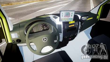 Mercedes-Benz Sprinter 311 cdi Belgian Ambulance для GTA 4 вид сзади