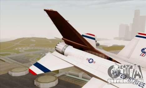 F-16C USAF Thunderbirds для GTA San Andreas вид сзади слева