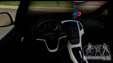 Opel Astra J для GTA San Andreas вид изнутри