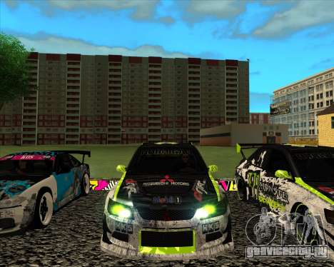 Mitsubishi Lancer Evolution IX Monster Energy DC для GTA San Andreas вид слева