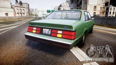 Ford LTD LX 1985 v1.6 для GTA 4 вид сзади слева