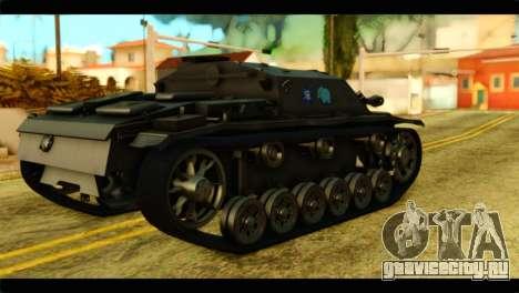 StuG III Ausf. G Girls und Panzer для GTA San Andreas вид слева
