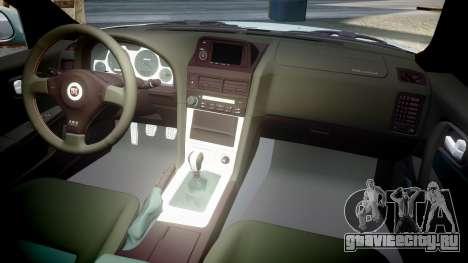 Nissan Skyline R34 GT-R M-Spec Nur для GTA 4 вид сбоку