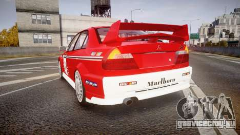 Mitsubishi Lancer Evolution VI 2000 Rally для GTA 4 вид сзади слева