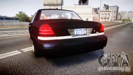 Ford Crown Victoria NYPD Unmarked [ELS] для GTA 4 вид сзади слева